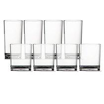 Break Resistant Glass Tumblers, 14 oz. and 18-oz. (8 Pieces)