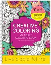 Creative Coloring Book w/ Inspirational Quotes