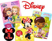 Disney Coloring and Activity Books (3 Books, 96 Pgs Each)