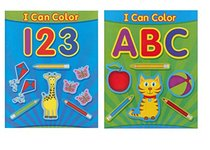 ABC & 123 Coloring Books for Young Baby & Toddlers (2 Books)