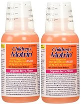 Children's Motrin Pain Fever Reliever, Original Flavor, 4 Oz. (2-Pack)