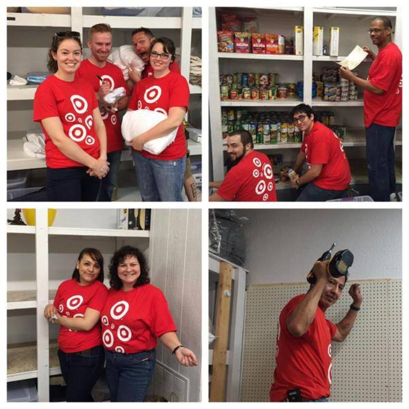 Target painting our food bank.