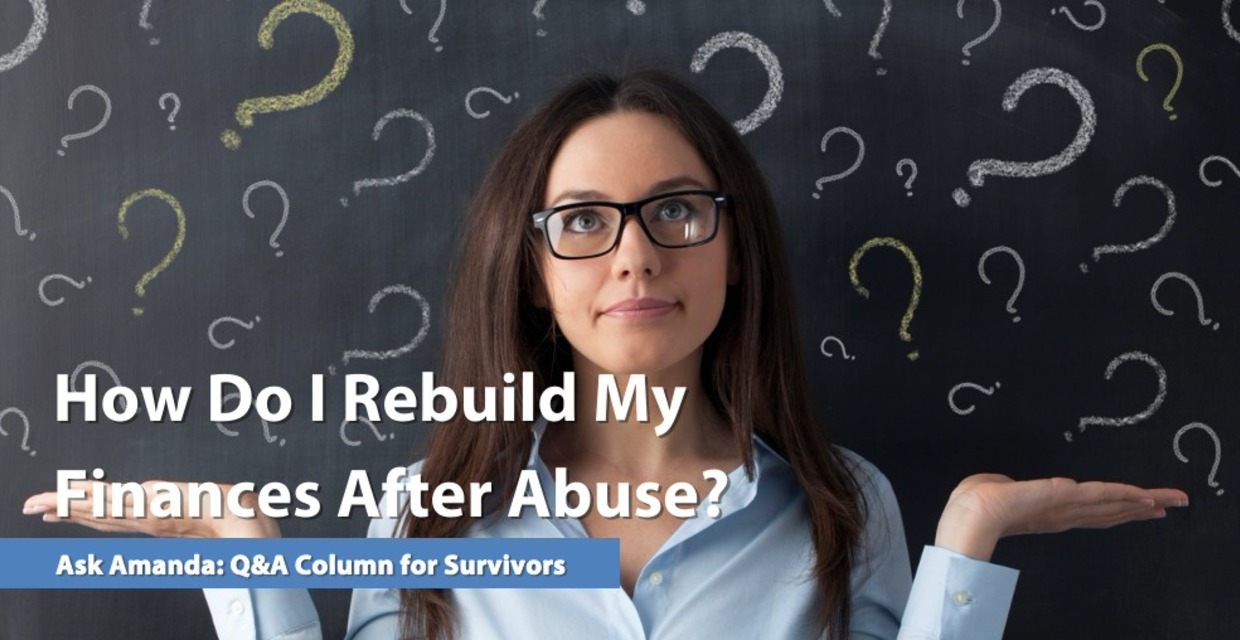 woman rebuilding finances after abuse