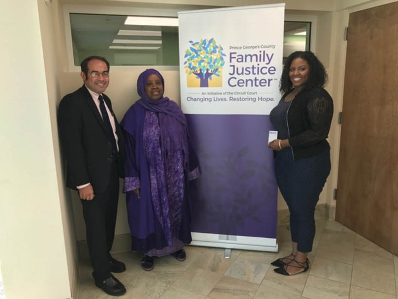 Chaplain Asma Inge-Hanif Speaking At The Family Justice Center Against Domestic Violence