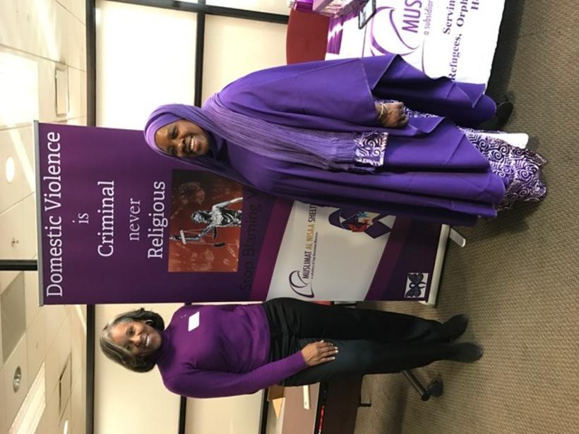 Chaplain Asma Hanif Speaking Against Domestic Violence