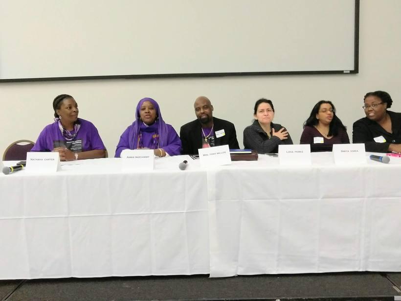 Chaplain Asma Hanif Speaking At Interfaith Coalition Against Domestic Violence