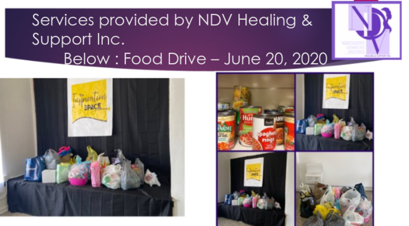 NDV Healing and Support Inc Food Drive