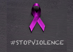 Observing domestic violence awareness month by wearing purple